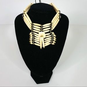 Jewelry - Vintage American Indian Ivory Choker Necklace